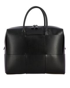 handbag in woven leather
