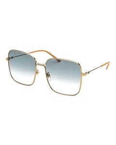 Rectangular sunglasses with gradient lenses