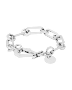 银色链环手链