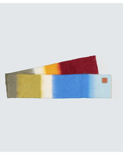 Mohair-blend striped scarf