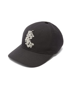 Embroidered-monogram baseball cap