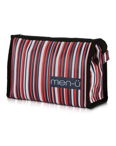 men-üStripes Toiletry Bag–Blue/Red/White